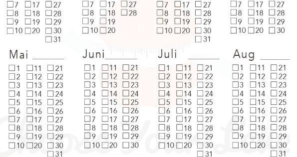 15 Kostenlose Kalender Vorlagen Fur 2021