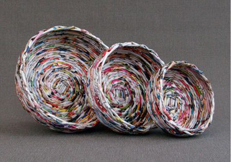 How To Weave A Basket Out Of Paper : Diy how to weave a basket using newspaper it s so