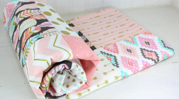 Baby Girl Blanket Minky Blanket Coral Crib Bedding