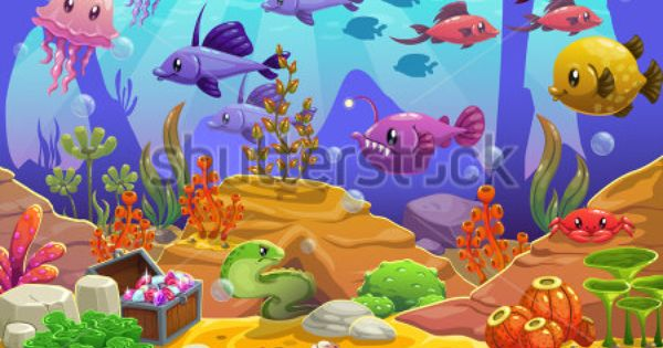 Mermaid Decor Shower Curtain Set Fantasy Marine Life Cartoon In The Creative Sea