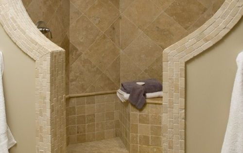 Shower Idea - I would modify this! I want a shower with