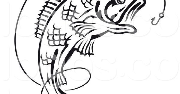 Best Bass Fish Outline #18267 - Clipartion.com | stencils ...