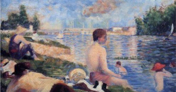 Final Study For Bathing At Asnieres Georges Seurat Fecha De Comienzo 1883 Fecha De Finalizacion 1884 Lugar De Creacio George Seurat Arte Posimpresionismo