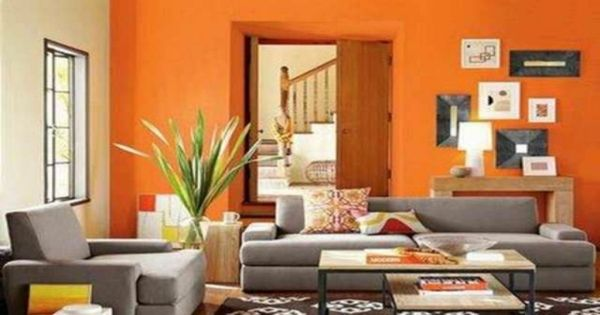 Dekoideen Wohnzimmer Orange And Farbideen Modern