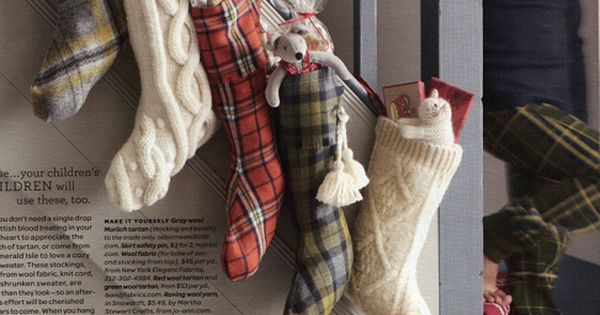 DIY Christmas Stockings .. would be cute out of an old sweater