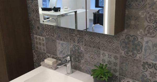 Porcelanosa antique blue tegels vintage tegels op de wand badkamer vintage tegels pinterest - Porcelanosa tegel badkamer ...