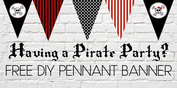 Free Printable Pirate Flag Pennant Banner - Frugalful Pirata