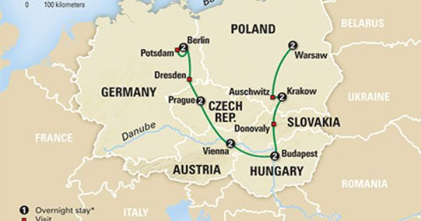 Central And Eastern Europe Cities Map Eastern Europe Cities Central And Eastern Europe Europe Tours