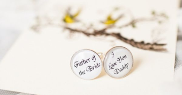 cuff links for the father of the bride | Laura Yang #wedding