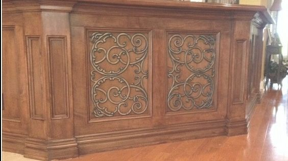 Tableaux faux iron cabinet doors 26 bar pinterest - Wrought iron kitchen cabinet door inserts ...