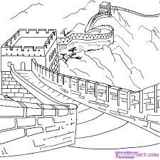 Image Result For Great Wall Of China Pencil Drawing Great Wall Of China Easy Drawings Drawings