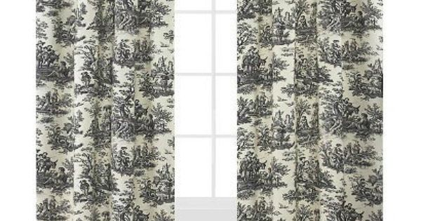Sale Pr Toile Waverly Curtains French Country Life Curtains Etsy Panel Curtains Country Curtains French Country Curtains