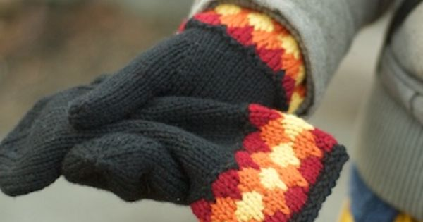 Mittens, Yarns and Mittens pattern on Pinterest