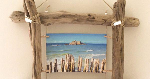 Cadre Photo En Bois Flott Par L 39 Atelier De Corinne D Corations Murales Par Atelier De Corinne