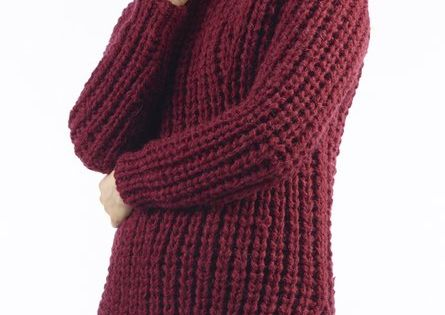 Knitting Needle Sizes South Africa : Yana chunky ribbed jumper free knitting pattern material