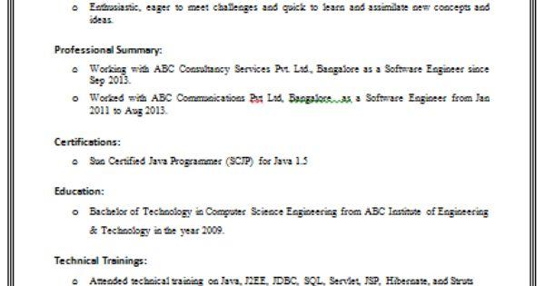 web page resume