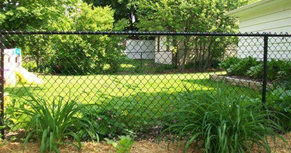 Black Chain Link Fence Installation Milwaukee Fence Landscaping Black Chain Link Fence Garden Fence
