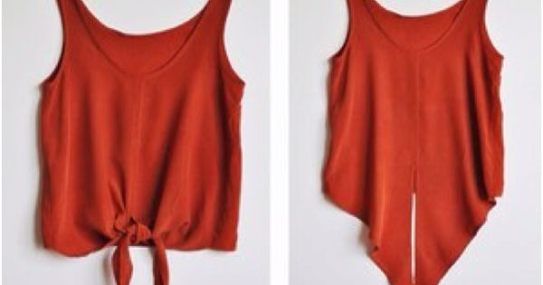 cut up a tee shirt to make a tank top