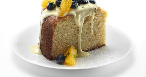 Orange Cornmeal Cake with Créme Anglaise and FAGE Total | {CORNMEAL ...
