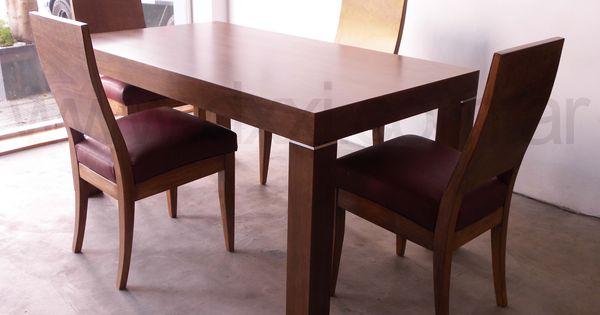 Mesa de comedor modelo mora 180x90 madera enchapada en - Fabrica de mesas de comedor ...