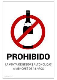 Cartel Señalización Prohibido La Venta A Menores De Bebidas Alcoholicas Prohibido Alcohol Carteles De Seguridad Café Para Llevar Bebidas Alcoholicas