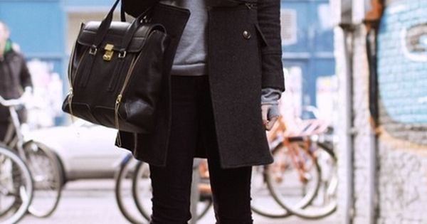 Street Style: Military Style Coat & Wedged Heel Ankle Boots