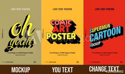 Poster Template Set Mockup Poster Social Media Poster Mockup Poster Template 3d Text