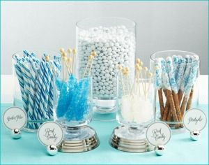 Candy Table Boy Baby Shower Candy Buffet Wedding Blue Candy Buffet Diy Candy Buffet