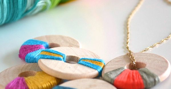 see that there: DIY Wooden necklace