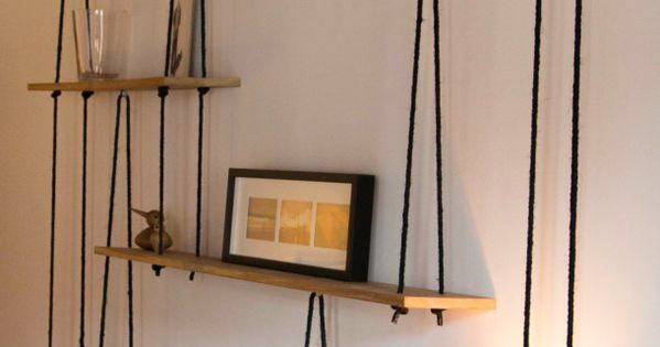 suspended shelves tag res suspendues sur mesure discover more best ideas about tag res. Black Bedroom Furniture Sets. Home Design Ideas