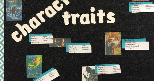 Character traits bulletin board for middle school- book ...