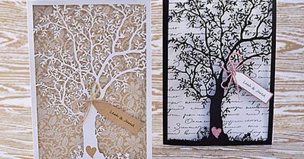laser cut tree wedding invitations. black laser cut wedding, Wedding invitations