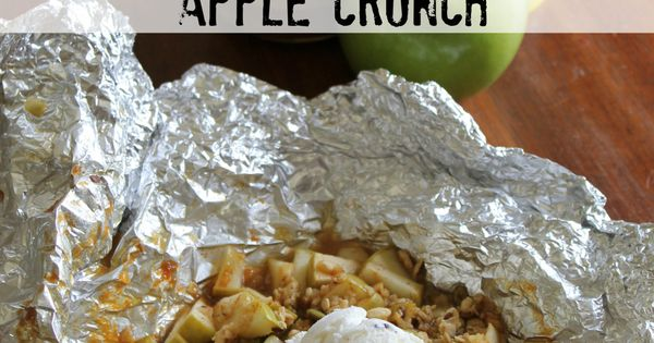 Grilled Caramel Apple Crunch is a fun dessert for on the grill