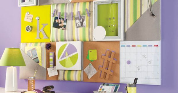 Diy cork board bedroom or office organization ideas for Diy bulletin board for bedroom