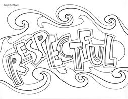 Respectful Coloring Page Coloring Pages School Coloring Pages