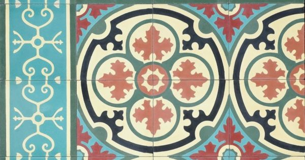 8 x 8 barcelona 4 barcelona cement floor tile for Parquet carrelage champigny