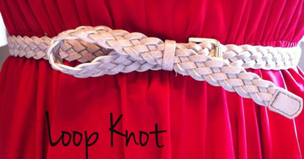 5 ways to tie a belt knot