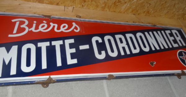 Objet pub tole ou plaque emaillee motte cordonnier for Plaque emaillee ancienne cuisine