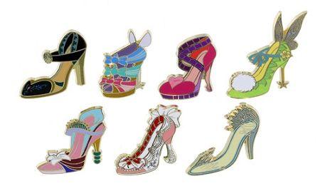 Disney Princess Shoes Pin Set Divas Shoes Mini Pin Set 7