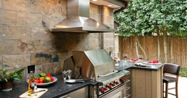 Outdoor kitchen fanciful living pinterest roof for Outdoor kitchen roof structures
