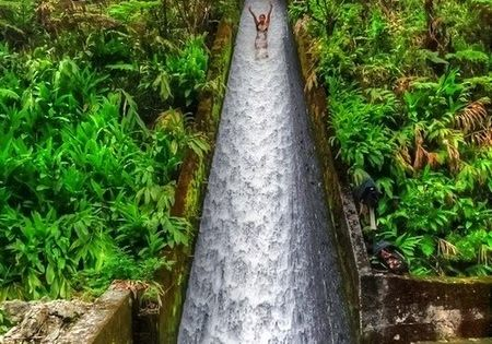 * Amazing Places To Go - Canal Waterslide - Indonesia travel