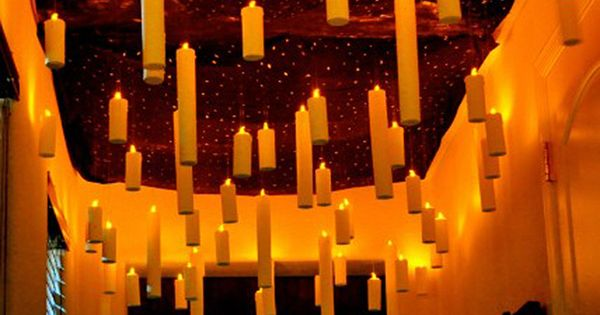 20 Spooktacular DIY Halloween Decorations: Floating Candles. This would be fun for