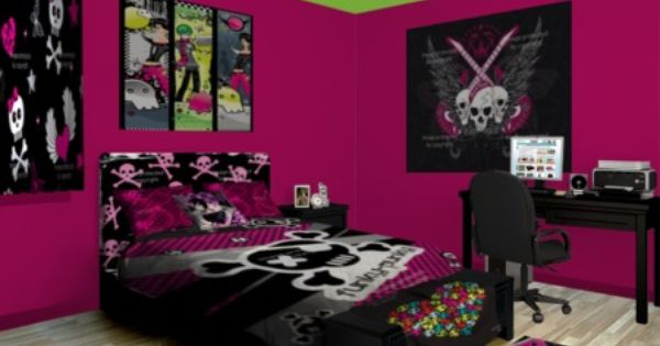 Perform proper punk patrol with loud and clear decor see for Bedroom ideas emo