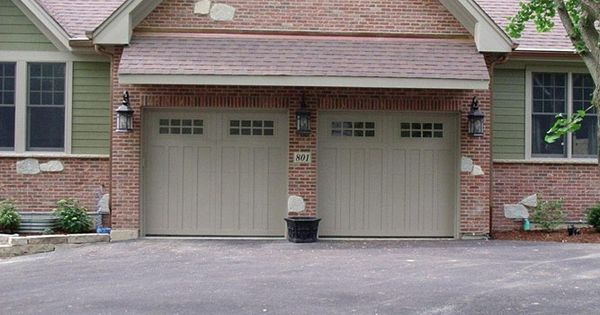 Steel garage door for Arts and crafts garage