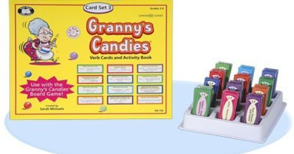 Toy Vocabulary Game : Granny s candies vocabulary word meaning game verb cards