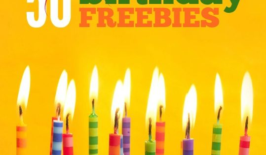 adult birthday freebies