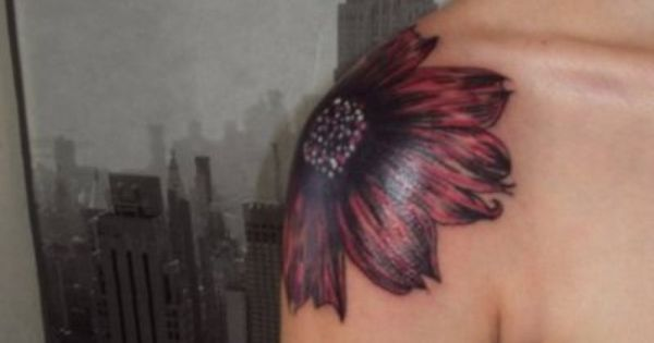shoulder flower - cover up