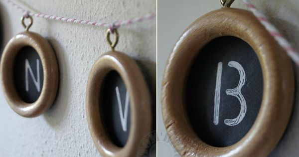 guirlande d tails anneaux de rideau en bois id es. Black Bedroom Furniture Sets. Home Design Ideas