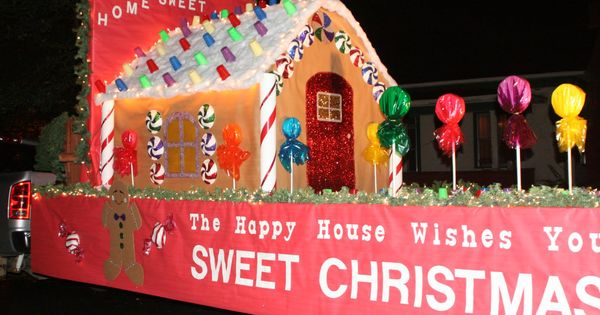 Christmas Parade Float Ideas Gingerbread House And