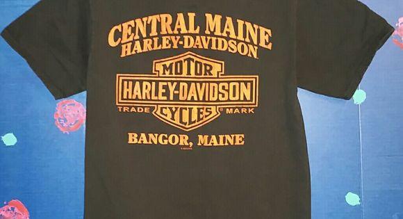 Women S Bangor Maine Harley T Shirt Size Small Harley T Shirts Harley Davidson T Shirts T Shirt